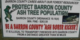 Emerald Ash Borer management sign