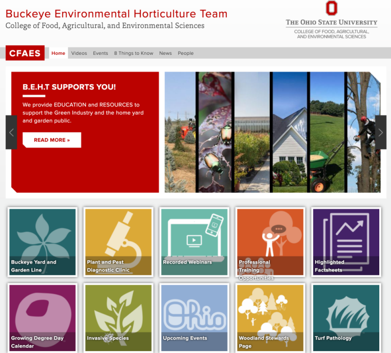 link to the Buckeye Environmental Horticulture Team Website