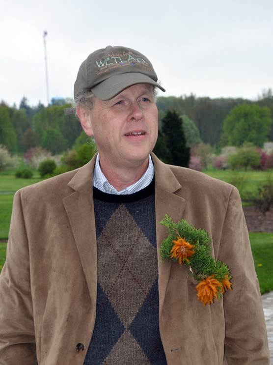 Jim Chatfield and cedar apple rust corsage