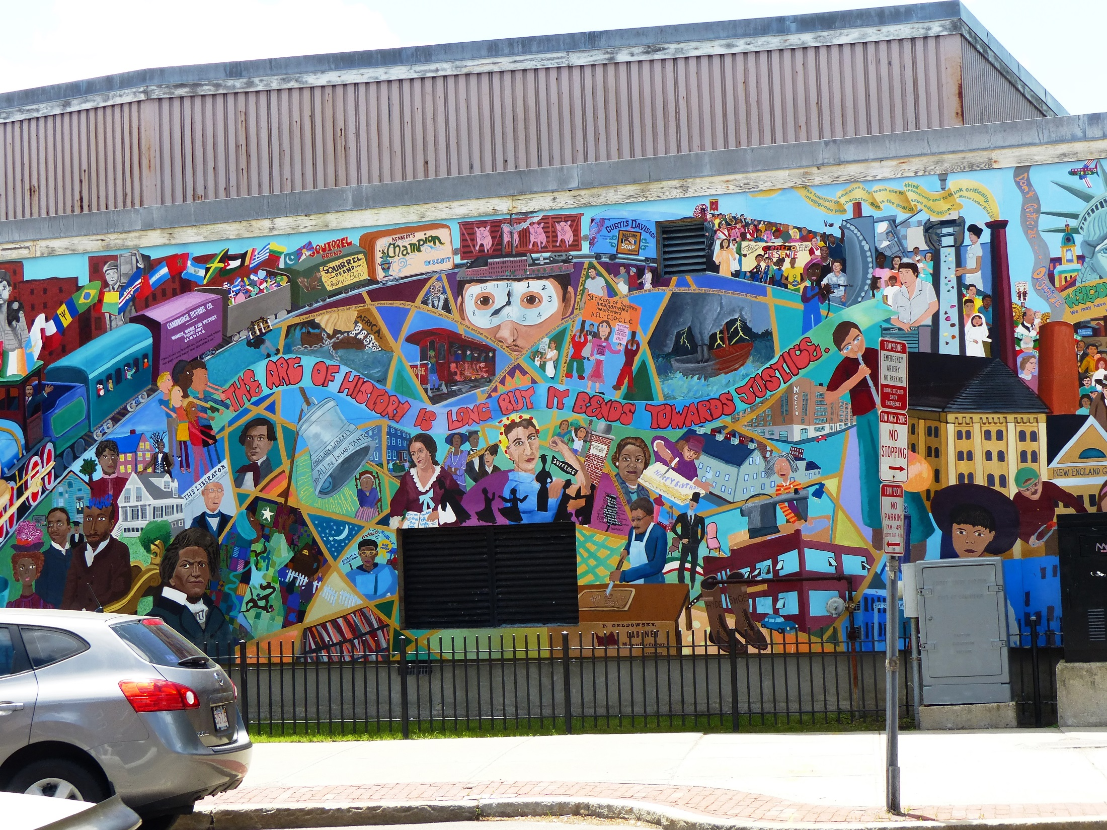 Cambridge Massachusetts mural for justice