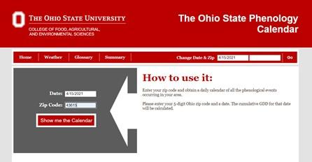OSU Growing Degree Day Website