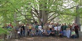 Walk-About Participants with State Champion Katsura Tree