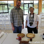 Lois Rose and Paul Snyder - and pies, Jerry! Serviceberry and rhubarb in this case.